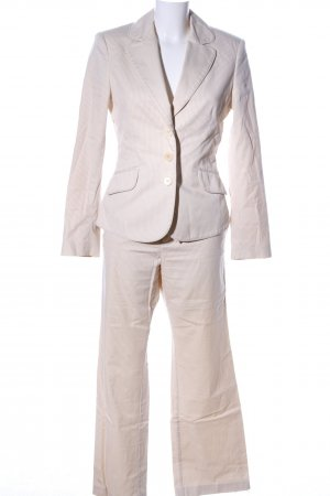 Mexx Pinstripe Suit natural white-cream allover print casual look