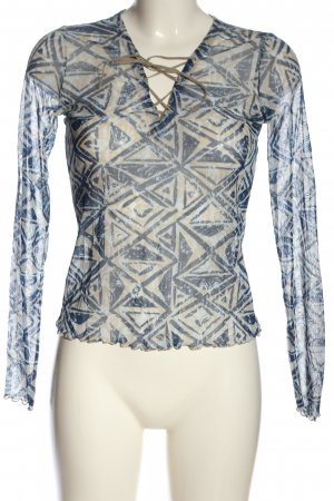 Mexx Netshirt room-blauw abstract patroon casual uitstraling