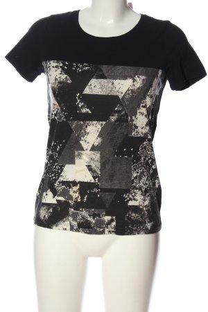 Mexx Print-Shirt schwarz-weiß Allover-Druck Casual-Look