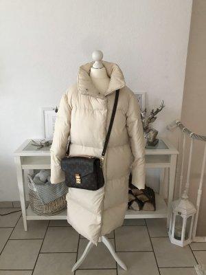 Mexx Puffer Coat Daunenmantel Blogger Daunenjacke Mantel Creme Gr.S