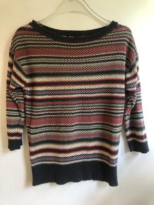 Mexx Szydełkowany sweter Wielokolorowy Bawełna