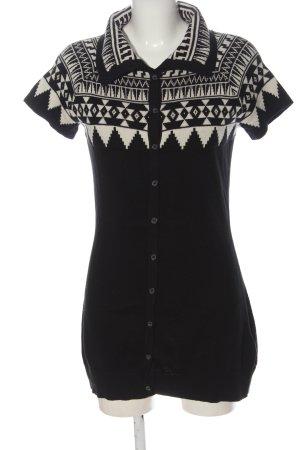 Mexx Swetrowa sukienka czarny-biały Graficzny wzór W stylu casual
