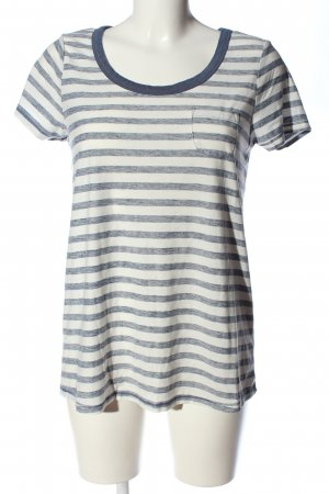 Mexx T-shirt rayé bleu-blanc cassé moucheté style décontracté