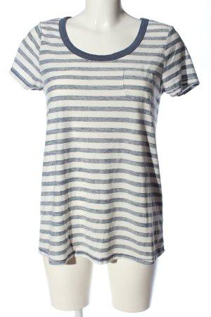 Mexx Stripe Shirt blue-natural white flecked casual look