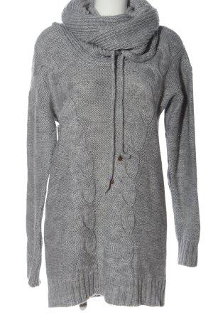 Mexx Sweater Dress light grey flecked casual look