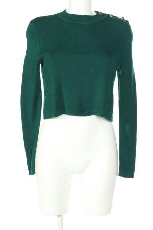 Mexx Rundhalspullover grün Casual-Look