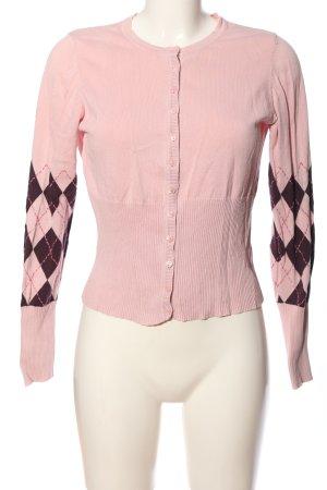 Mexx Strickjacke pink-schwarz grafisches Muster Casual-Look