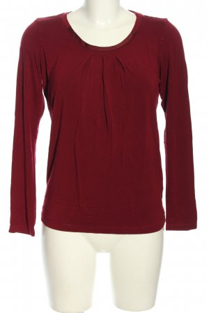 Mexx Rundhalspullover rot Casual-Look