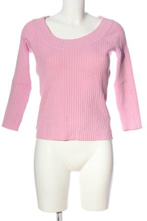 Mexx Rundhalspullover pink Streifenmuster Casual-Look