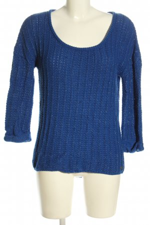 Mexx Strickpullover blau Casual-Look