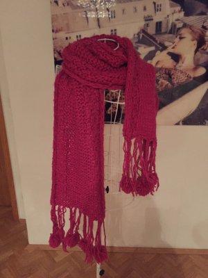 Mexx Bufanda de lana rojo frambuesa