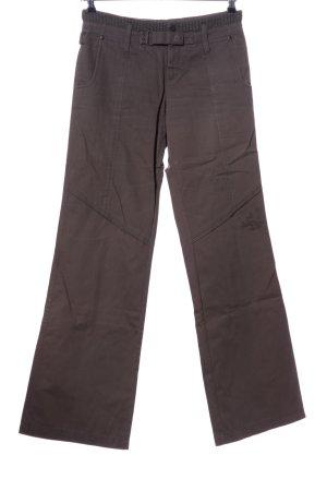 Mexx Pantalon pattes d'éléphant brun style décontracté