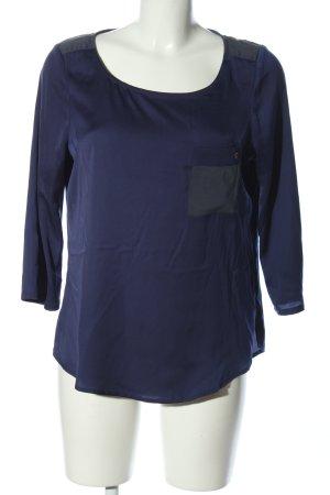 Mexx Schlupf-Bluse blau Casual-Look