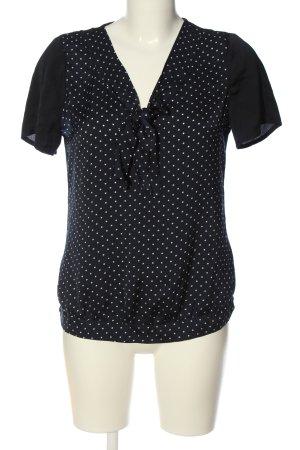 Mexx Schlupf-Bluse schwarz-weiß Punktemuster Casual-Look