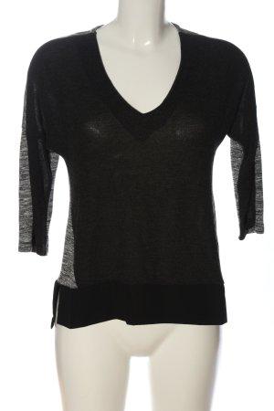 Mexx V-Ausschnitt-Shirt schwarz-hellgrau meliert Casual-Look
