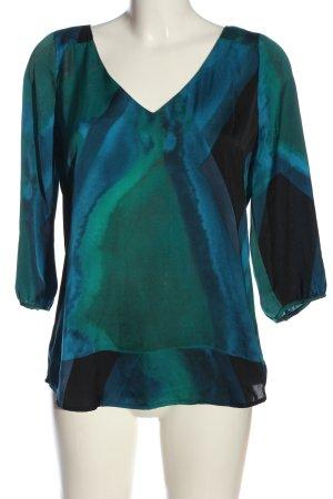 Mexx Schlupf-Bluse grün-blau Farbverlauf Casual-Look