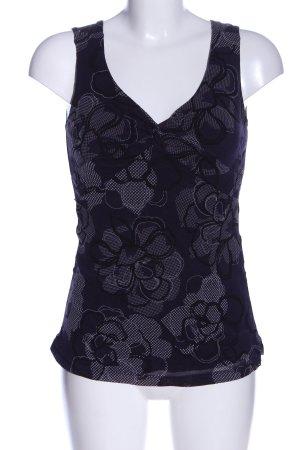 Mexx Schlupf-Bluse lila-schwarz Blumenmuster Casual-Look