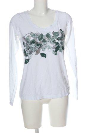 Mexx Schlupf-Bluse weiß-schwarz abstraktes Muster Casual-Look
