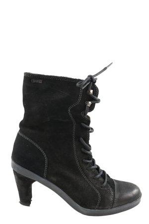 Mexx Schnür-Stiefeletten schwarz Casual-Look