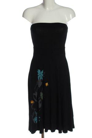 Mexx Off-The-Shoulder Dress black flower pattern elegant