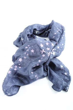 Mexx Shoulder Scarf blue-white allover print casual look