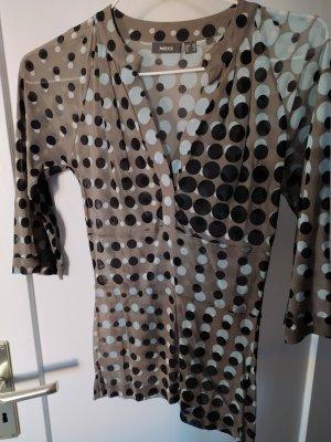 Mexx Shirt gr xs transparent gemustert, polka dots