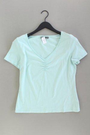 Mexx Shirt mit V-Ausschnitt Größe XL Kurzarm türkis aus Baumwolle