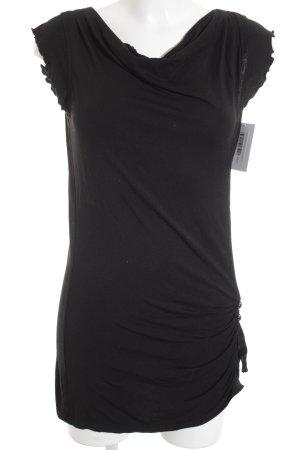 Mexx Shirtkleid schwarz schlichter Stil