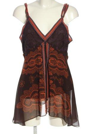 Mexx Camicia a tunica bronzo-arancione chiaro motivo grafico stile casual