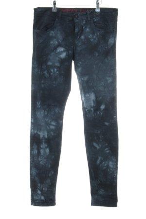 Mexx Skinny Jeans blau abstraktes Muster Casual-Look