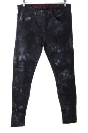 Mexx Skinny Jeans schwarz-hellblau Biker-Look
