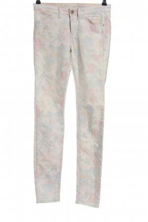 Mexx Skinny Jeans wollweiß-pink Allover-Druck Casual-Look