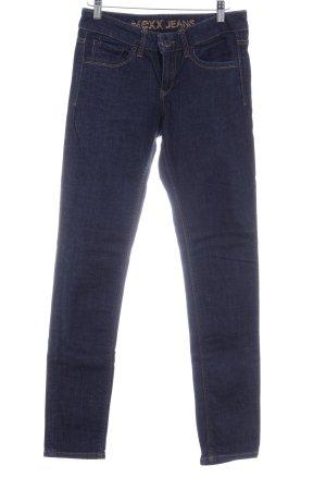 Mexx Slim Jeans dunkelblau-dunkelorange Casual-Look