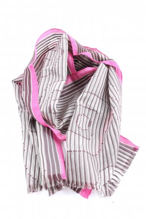 Mexx Summer Scarf light grey-pink striped pattern casual look