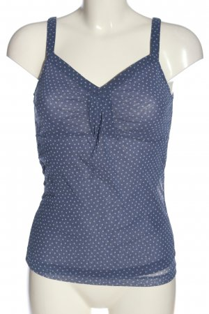 Mexx Spaghettibandtopje blauw-wit gestippeld patroon casual uitstraling