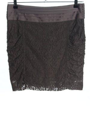 Mexx Lace Skirt khaki flower pattern elegant
