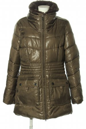 Mexx Quilted Coat brown quilting pattern casual look