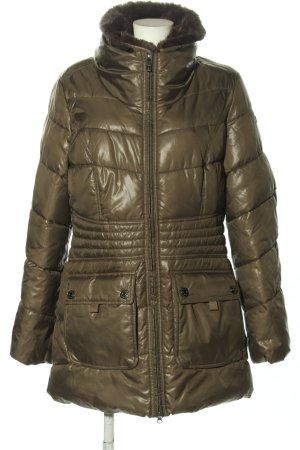 Mexx Pikowany płaszcz brązowy Pikowany wzór W stylu casual
