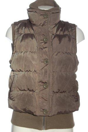 Mexx Gilet matelassé brun motif de courtepointe style décontracté