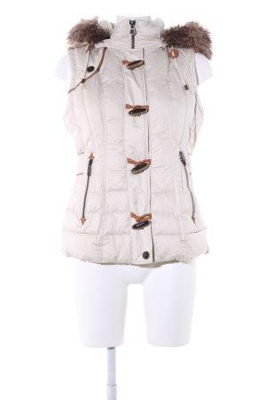 Mexx Smanicato trapuntato bianco sporco-marrone motivo trapuntato stile casual