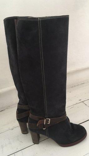 Mexx Botas de tacón alto azul oscuro-marrón oscuro
