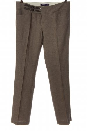 Mexx Jersey Pants brown flecked business style