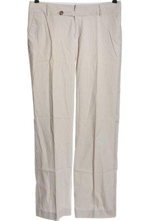 Mexx Stoffhose weiß-braun Streifenmuster Casual-Look
