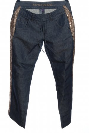 Mexx Straight-Leg Jeans blau-goldfarben Casual-Look
