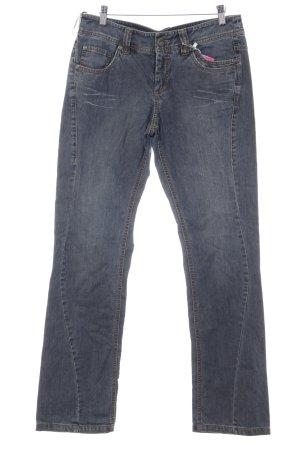 Mexx Straight-Leg Jeans stahlblau Casual-Look