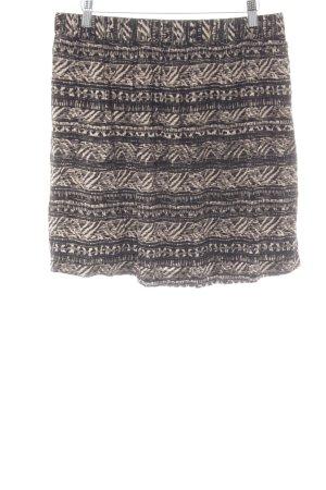 Mexx Stretchrock schwarz-creme abstraktes Muster Casual-Look