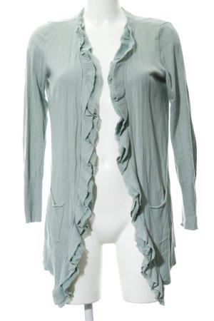 Mexx Strick Cardigan graugrün Casual-Look