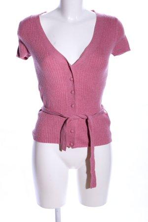 Mexx Strickjacke pink Streifenmuster Casual-Look