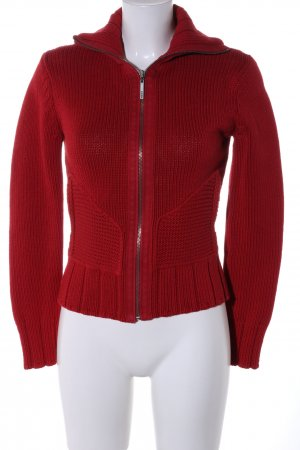 Mexx Strickjacke rot Zopfmuster Casual-Look