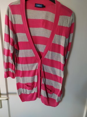 Mexx Strickjacke gr m pink grau gestreifft